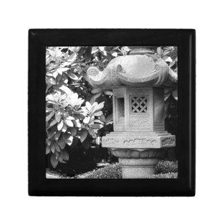 black white japanese garden gift box