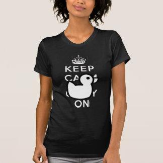 Black White Keep Calm Rubber Duck Humor Shirt