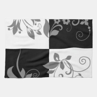 Black & white kitchen towel