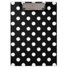 Black White Large Polka Dot Pattern Clipboard