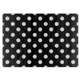 Black White Large Polka Dot Pattern Cutting Board