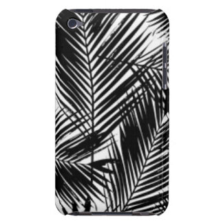 Black & White Leaves Pattern Print Design Barely There iPod Case