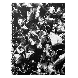 Black & White Leaves Spiral Notebook