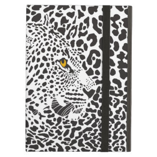 Black & White Leopard Camouflaged In Spots 2 Cover For iPad Air