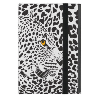 Black & White Leopard Camouflaged In Spots Pattern Covers For iPad Mini