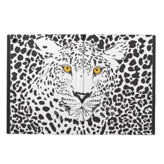 Black & White Leopard Camouflaged In Spots Pattern iPad Air Cover