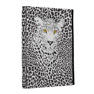 Black & White Leopard Camouflaged In Spots Pattern iPad Folio Cases