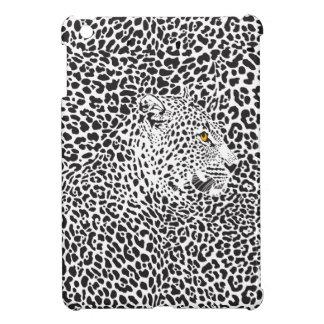 Black & White Leopard Camouflaged In Spots Pattern iPad Mini Cases