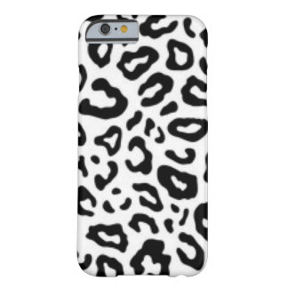 Black white Leopard Pattern Print Design Barely There iPhone 6 Case