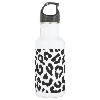 Black & White Leopard Print Animal Skin Patterns 532 Ml Water Bottle