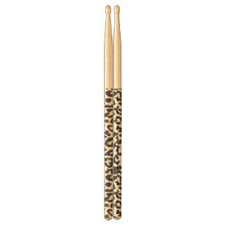 Black & White Leopard Print Animal Skin Patterns Drumsticks