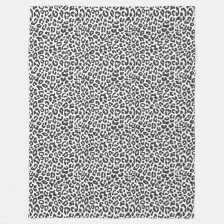 Black & White Leopard Print Animal Skin Patterns Fleece Blanket