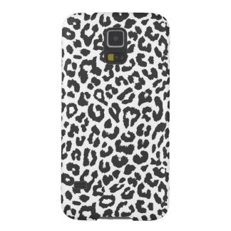 Black & White Leopard Print Animal Skin Patterns Galaxy S5 Cases