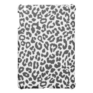 Black & White Leopard Print Animal Skin Patterns iPad Mini Cover