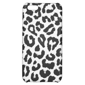 Black & White Leopard Print Animal Skin Patterns iPhone 5C Cover