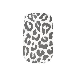 Black & White Leopard Print Animal Skin Patterns Minx Nail Art