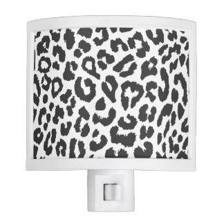Black & White Leopard Print Animal Skin Patterns Nite Lights