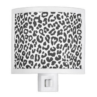 Black & White Leopard Print Animal Skin Patterns Nite Lites