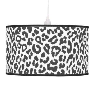 Black & White Leopard Print Animal Skin Patterns Pendant Lamp
