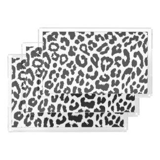 Black & White Leopard Print Animal Skin Patterns Perfume Tray