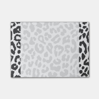 Black & White Leopard Print Animal Skin Patterns Post-it® Notes