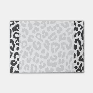 Black & White Leopard Print Animal Skin Patterns Post-it Notes