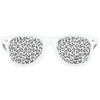 Black & White Leopard Print Animal Skin Patterns Retro Sunglasses
