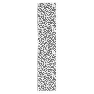 Black & White Leopard Print Animal Skin Patterns Short Table Runner