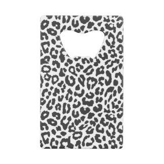 Black & White Leopard Print Animal Skin Patterns Wallet Bottle Opener