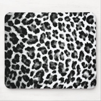 Black & White Leopard Print Mouse Pad