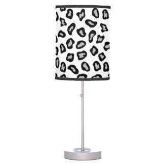 Black White Leopard Skin Stylish Table Lamps