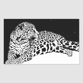 Black & White Leopard Sticker