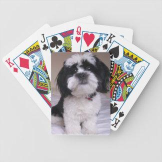 Black & White Lhasa Apso Playing Cards