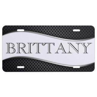Black White License Plate