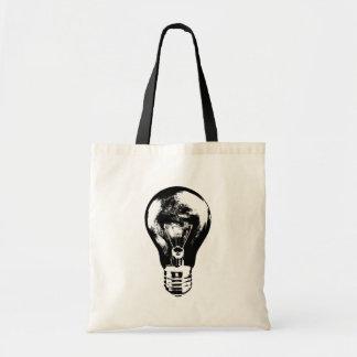 Black & White Light Bulb - Bag