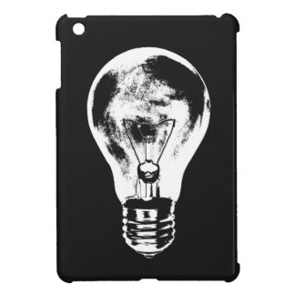 Black & White Light Bulb - Case iPad Mini Cases