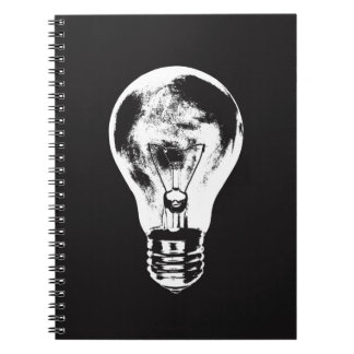 Black & White Light Bulb - Notebook