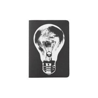 Black & White Light Bulb - Passport Holder