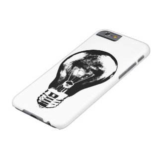 Black & White Light Bulb - Phone Case