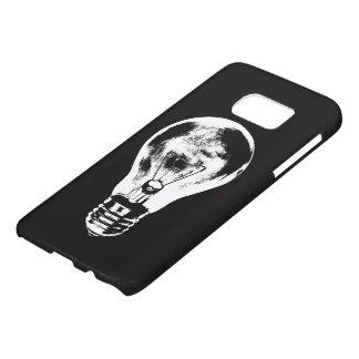 Black & White Light Bulb - Phone Case