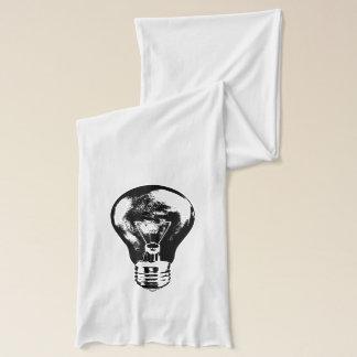 Black & White Light Bulb - Scarf