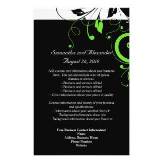 Black/White/Lime Green Bold Swirl Program Flyer Design