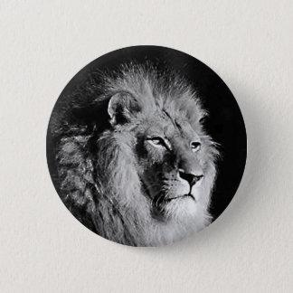 Black & White Lion Photo 2 Inch Round Button