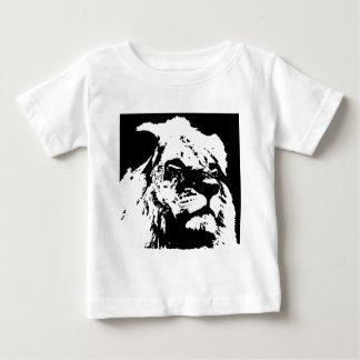 Black & white lion pop art baby T-Shirt