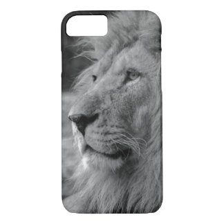 Black & White Lion - Wild Animal iPhone 8/7 Case