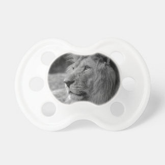 Black & White Lion - Wild Animal Pacifiers