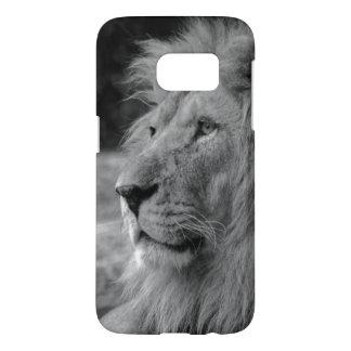 Black & White Lion - Wild Animal Samsung Galaxy S7 Case