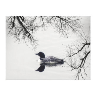 Black  white loon lake Canvas @ Lighthouse Route