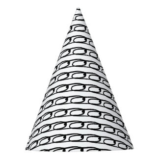 Black & White Loops Party Hat