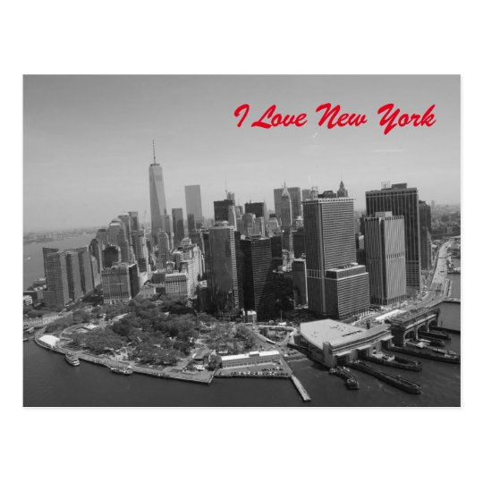 Black White Love New York City Postcard